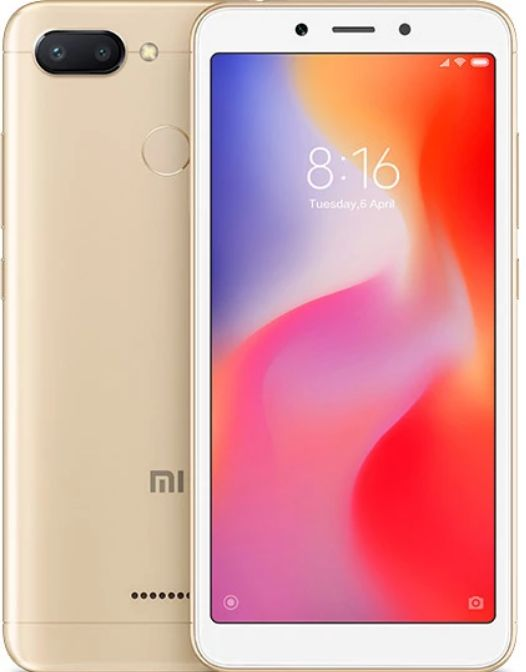 Смартфон Xiaomi Redmi 6 4/64GB золотой