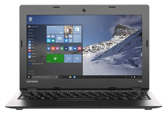 "Lenovo Ideapad 100S 11 (Intel Atom Z3735F 1333 MHz/11.6""/1366x768/2Gb/64Gb SSD/DVD нет/Intel GMA HD/Wi-Fi/Bluetooth/Windows 10 Home)"