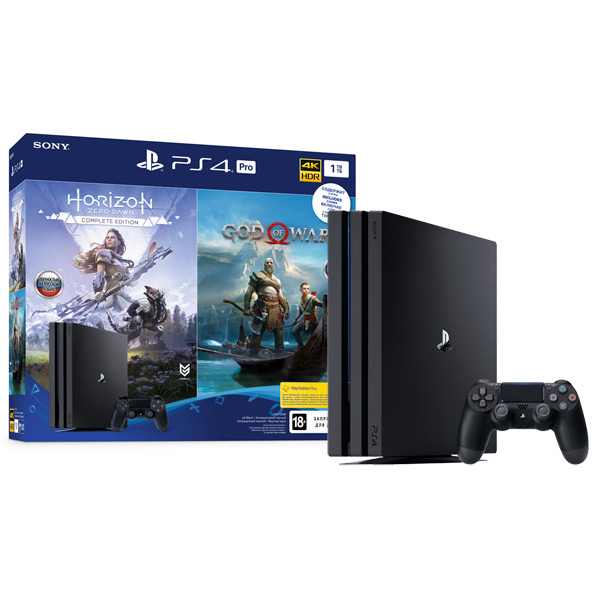 Игровая приставка PlayStation 4 Pro 1TB+Horizon Zero Dawn+God Of War